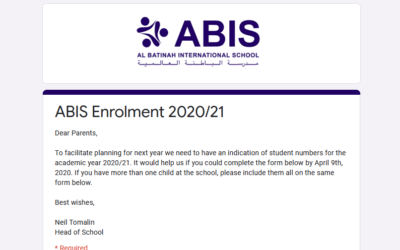 Reminder – Last 3 days : Enrolment 2020/21