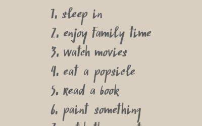 Take a break this weekend!