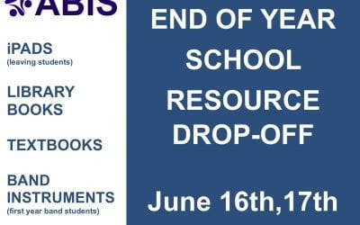 Reminder : End of Year School Resource Drop-Off Booking