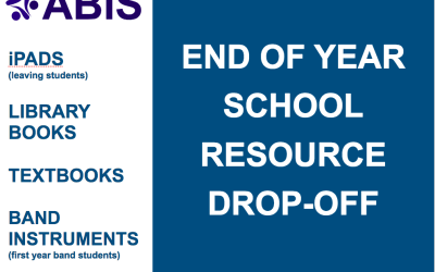 End of Year School Resource Drop-Off Booking