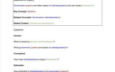 Conceptual Understanding in MYP