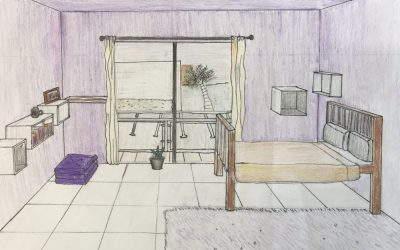 The artist's room.