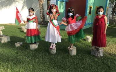 Grade 1 celebrates Oman.